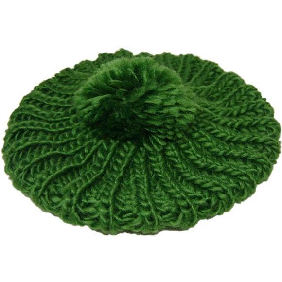 Touca de Lã verde com Pompom no Elo7  f08bce01c66