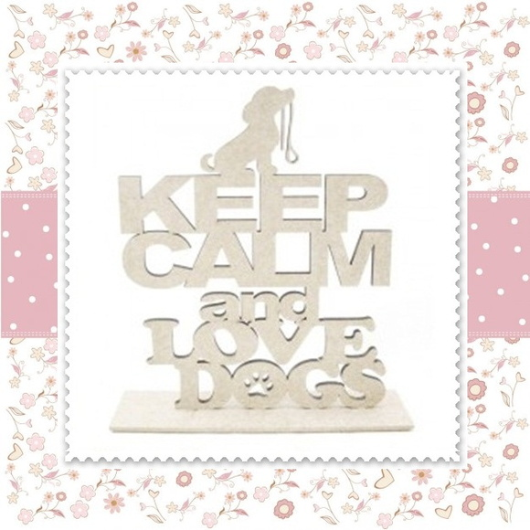 Placa Keep Calm And Love Dogs Pintado