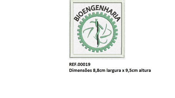 Patch Bordado Termocolante Bioengenharia