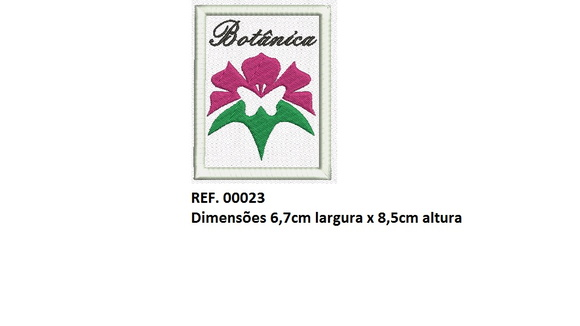 Patch Bordado Termocolante Botânica