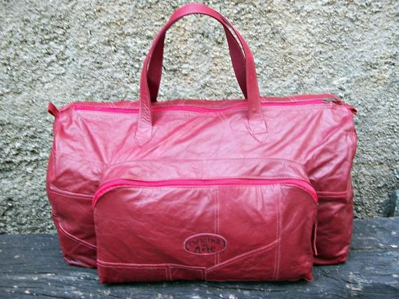 Bolsa De Couro Legitimo Artesanal : Bolsa de viagem couro vestu?rio leg?timo oficina arte