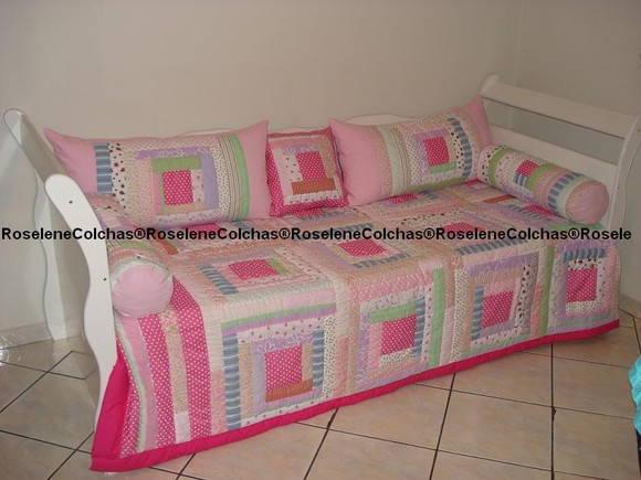 Colcha de solteiro em patchwork roselene colchas - Colchas de patchwork modernas ...