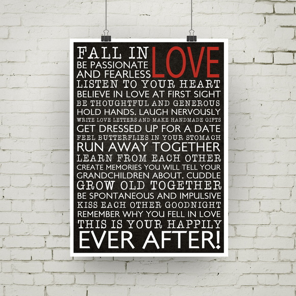 poster fall in love