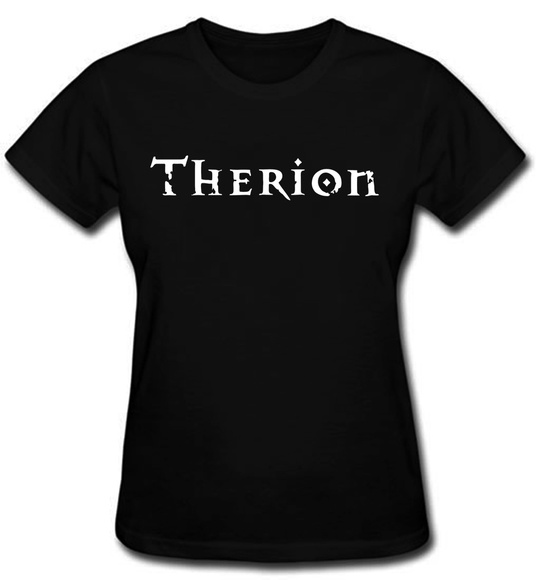 Camiseta Feminina Therion baby look rock logo