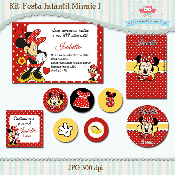 Kit Festa Infantil Minnie I