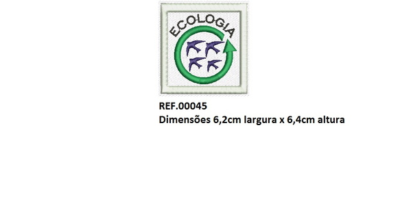Patch Bordado Ecologia