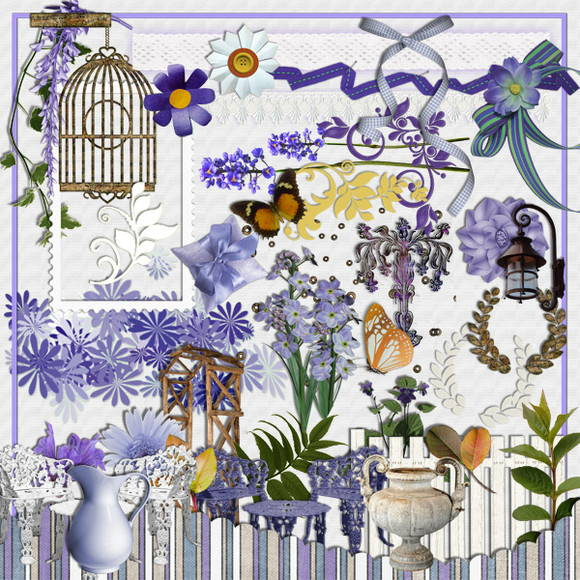 Digital Kit SPRING TOILE DE JOUY