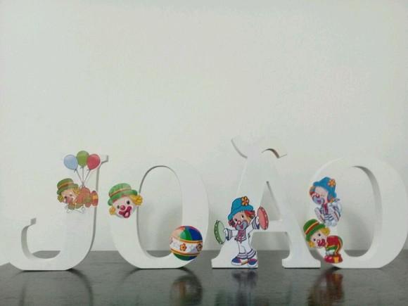 Letras Em Mdf Decoradas Taina: Sonia Decorações E Artes