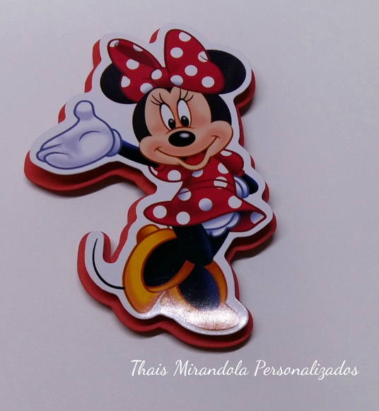 Aplique tubete Minnie