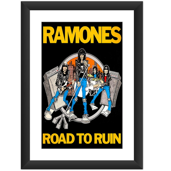 Quadro Ramones Road To Ruin Punk Rock Banda Decoracao Casa