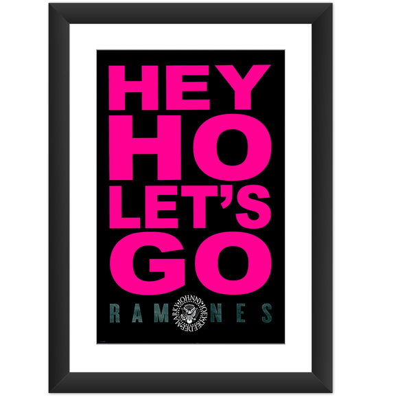 Quadro Ramones Hey Ho Lets Go Punk Rock Banda Decoracao Casa