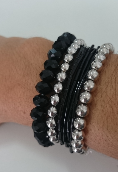Mix de pulseiras Black Night