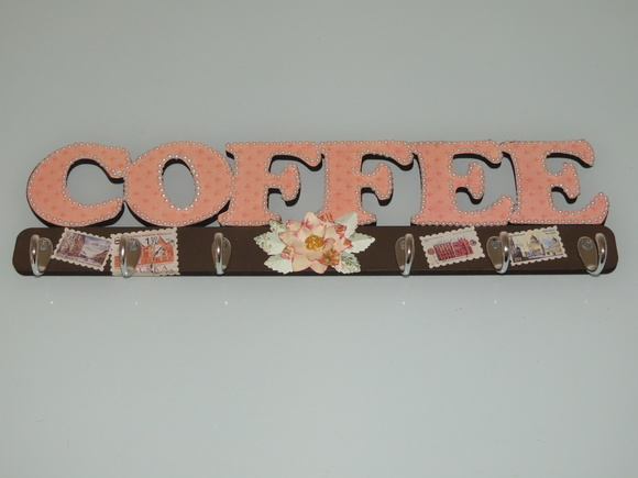Placa decorativa de café