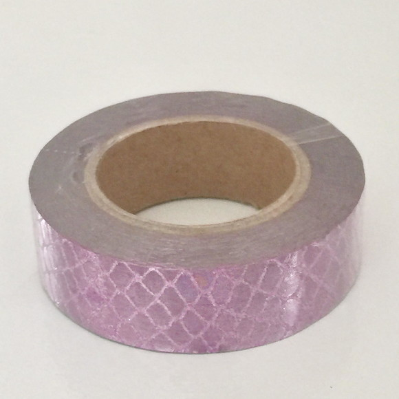 Washi Tape Escamas Roxa Metalizada