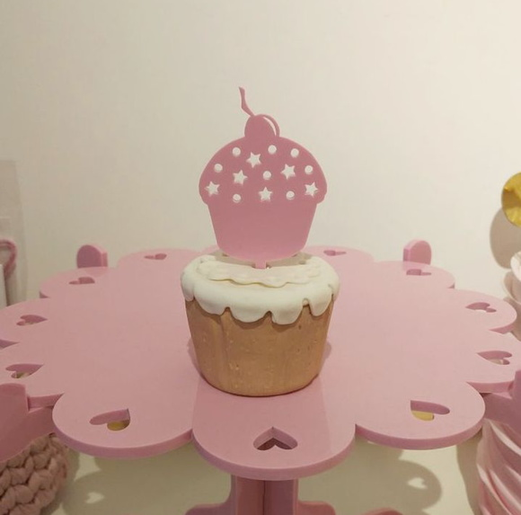 Kit topper cupcake - 5 unidades
