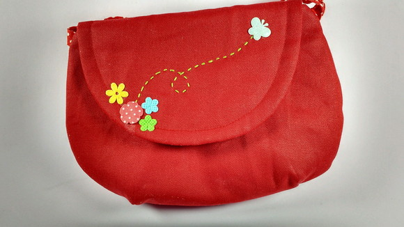 Bolsinha mini clutch infantil