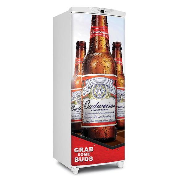 5f0d7781d5d29 Adesivo de Geladeira Cerveja Budweiser   Elo7