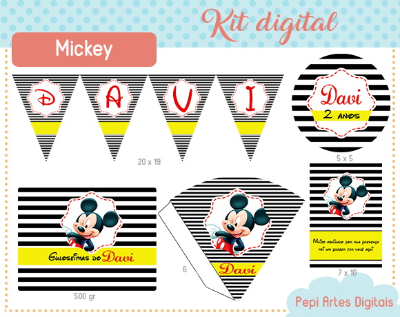 Kit mimos Mickey (digital)