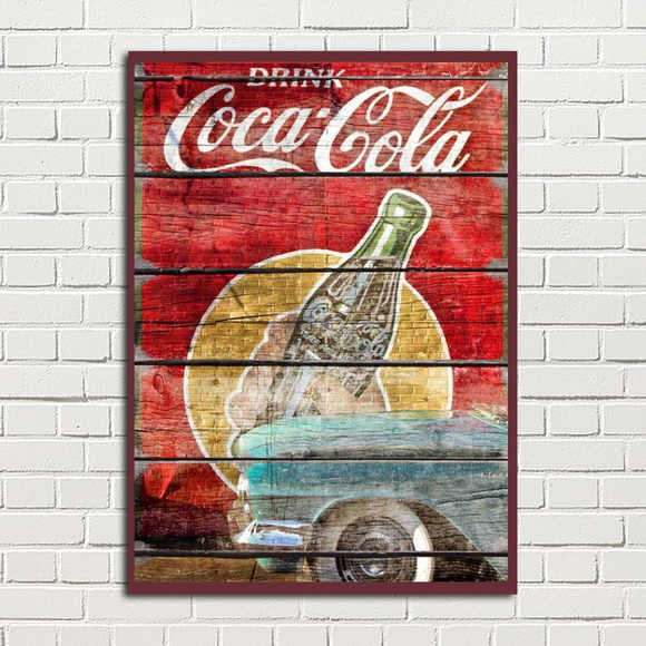 Placa Decorativa Coca Cola Vintage Retro 20x28