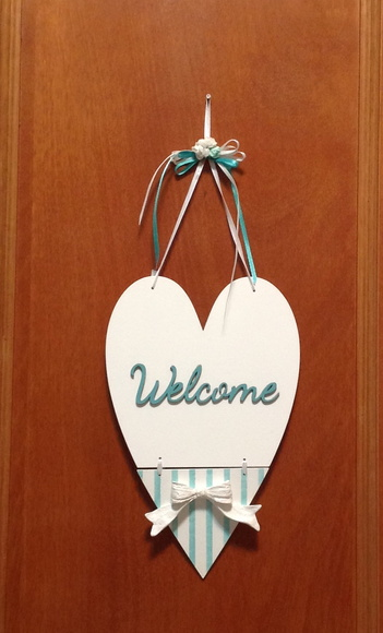 Placa p/ porta/parede - Welcome