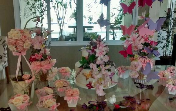 Kit festa jardim encantado das borboletas no Elo7 Rosamorena Artes Florais (A5E4AB) -> Decoração De Aniversario Jardim Encantado Das Borboletas