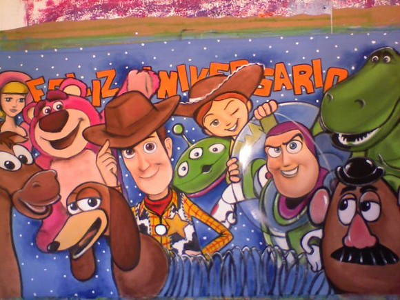 Painel do Toy Story