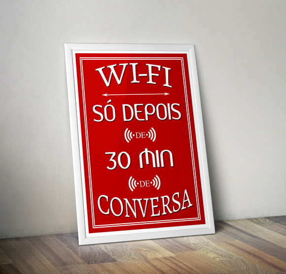 Arte Digital para Quadros - Wifi 30 Minutos