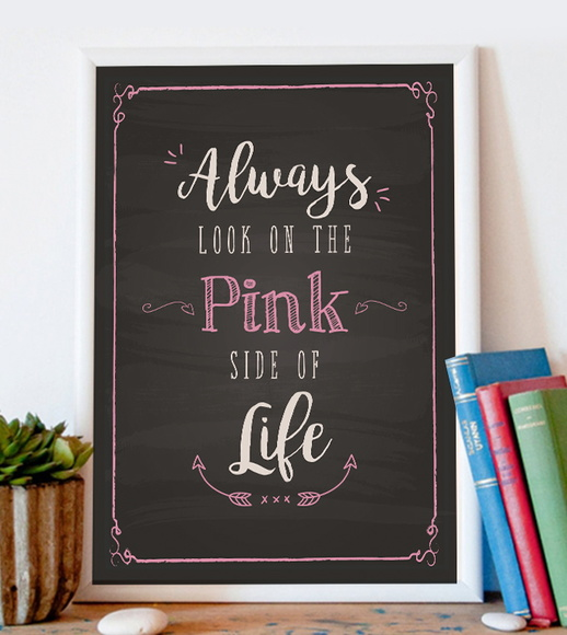 Quadro Pink Side - A4