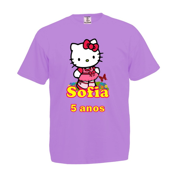 Camiseta Lilás Hello Kitty