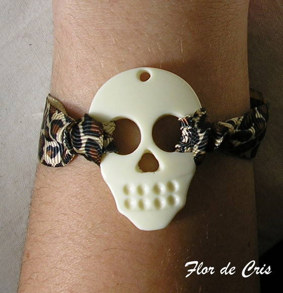 Skull Marfim + Animal Print