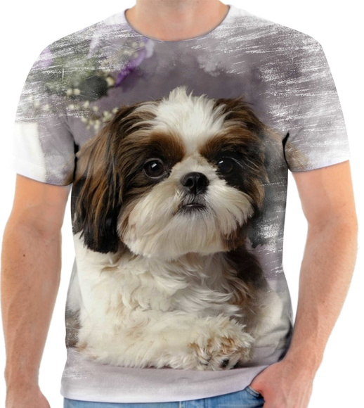 Camiseta Animal Cachorro Shih-tzu Fofo 3d Full HD 3