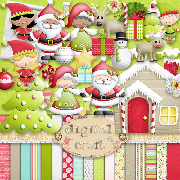Kit Scrapbook Digital - Natal XVII