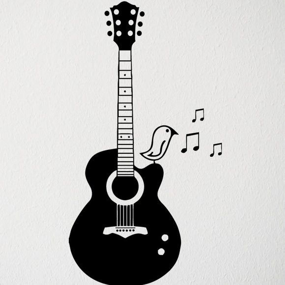 Adesivo Para Boca De Violão ~ Adesivo viol u00e3o música canário pássaro no Elo7 LD Creativity Store (A989EA)