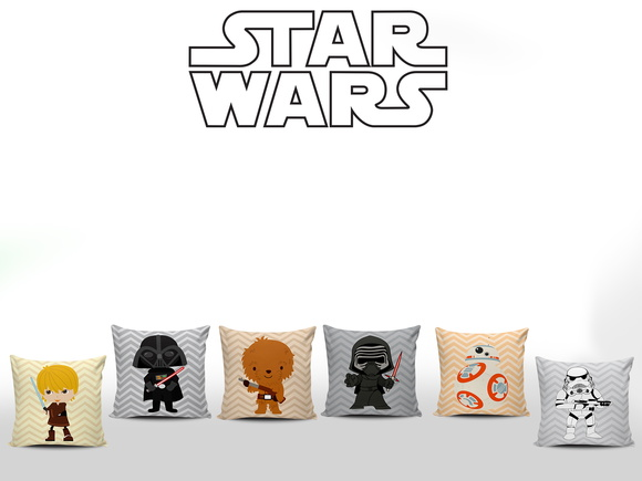 Almofadas Decoradas Star Wars Baby 6unid