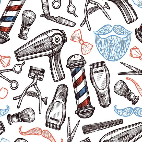 Adesivo De Parede Com Led ~ Papel de Parede para Barbearia Elo7