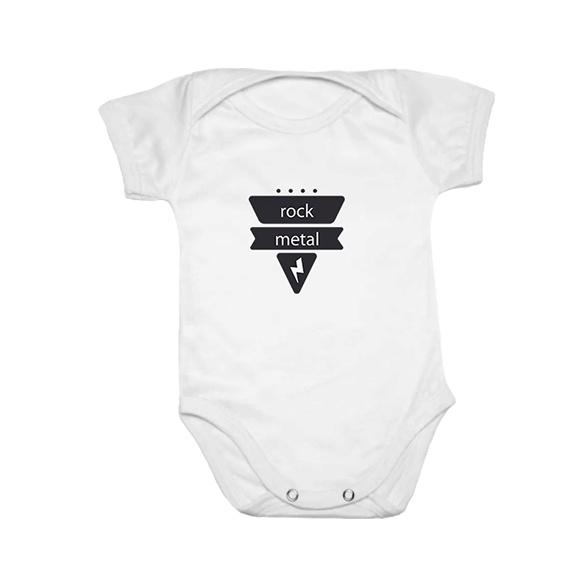 Body Divertido bebê manga Curta Rock and Roll no Elo7  1151d319507