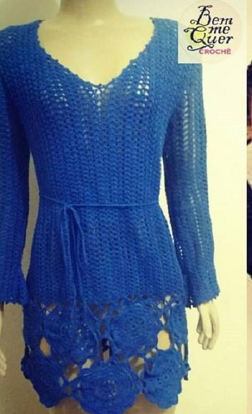 bab91d063 Vestido Croche Curto