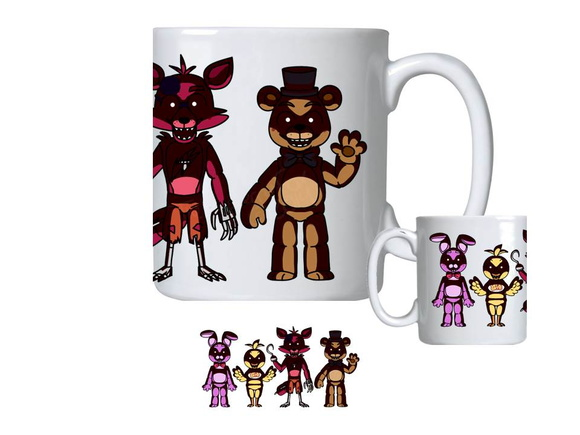 Caneca de Porcelana fnaf five nights at freddy's foxy bonnie