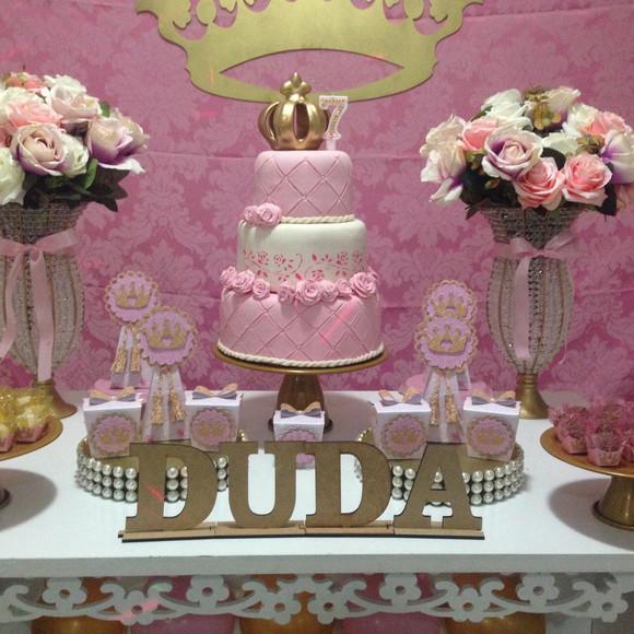 Decoraç u00e3o Provençal Realeza Princesa no Elo7 JF Festas Personalizadas (AD305A) -> Decoração De Festa Infantil Realeza Luxo