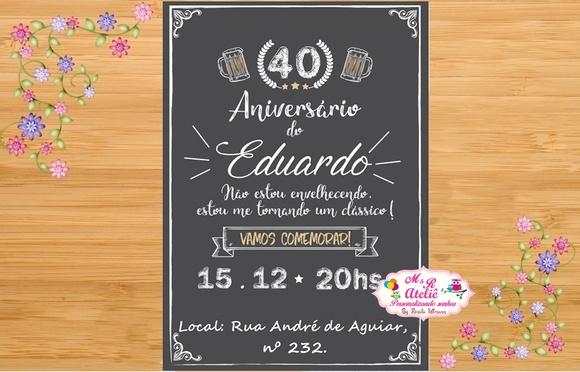 Quero Montar Meu Convite De 50 Anos: M&R Ateliê (ADBB86
