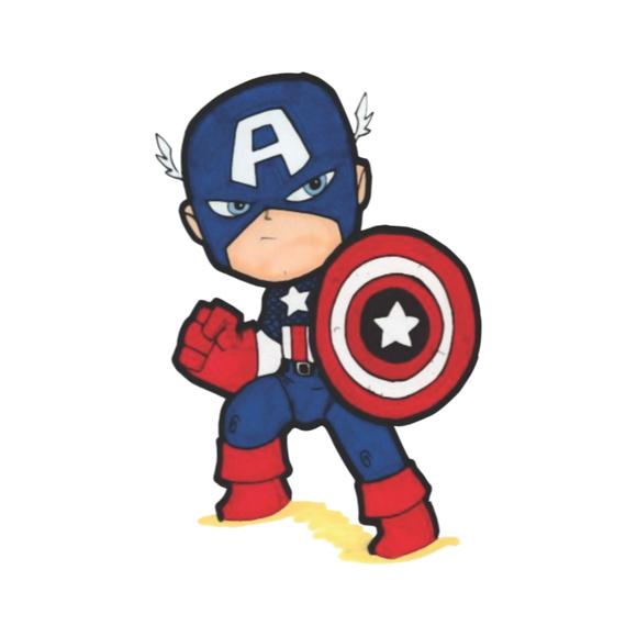 Adesivo Super-Heróis Capitão América Kids E Vários Outros
