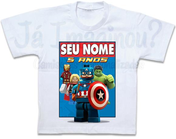 59493c6414 Camiseta Lego Marvel Avengers Capitão America