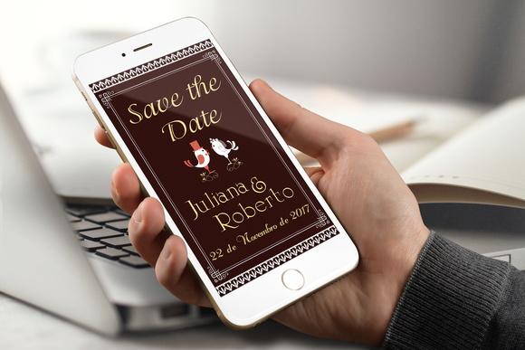 Save the Date Digital Whatsapp PROMOÇÃO no Elo7   Cor de