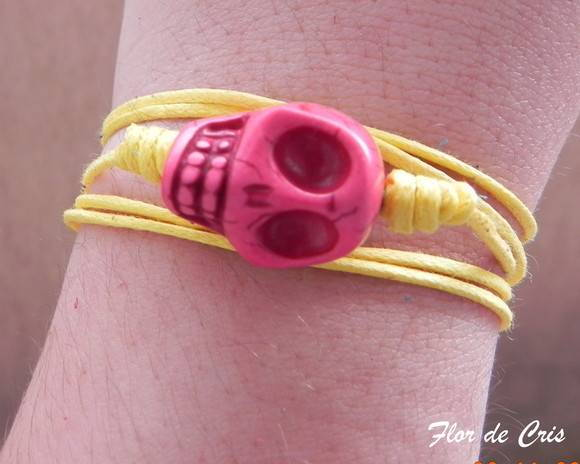 Skull Turquoise Pink