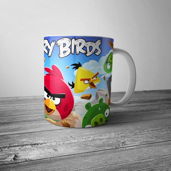 Caneca Desenho Angry Birds No Elo7