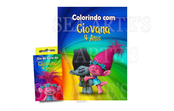 Kit Colorir - Trolls