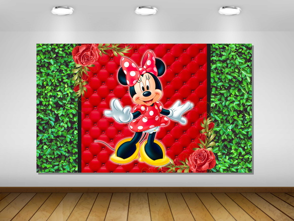 PAINÉL MINNIE MOUSE 2X1M - ARTE DIGITAL