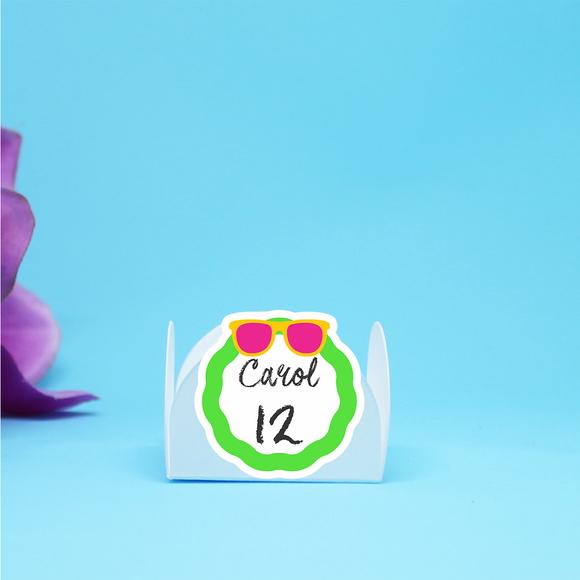 8d2c7bcd8 Forminha para doces com texto - óculos de sol no Elo7   A Carol que ...