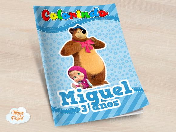 Revista Colorir Masha Eo Urso No Elo7