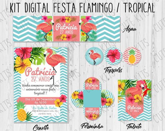 Kit Para Imprimir Festa Tropical Elo7